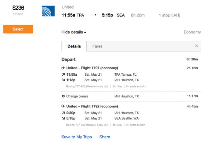 united flight to SEA