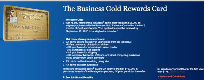 amex gold rewards